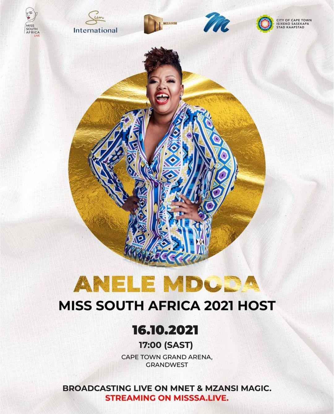 Anele Mdoda and Nico Panagio to host Miss SA 2021