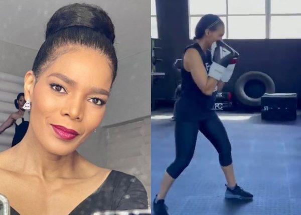 Video: Connie Ferguson returns to boxing