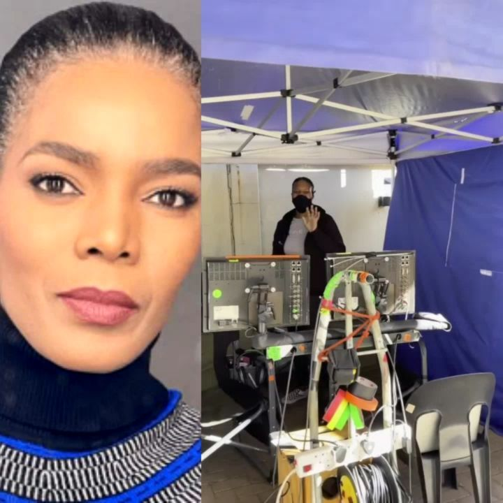 Video: Connie Ferguson's first day on The Queen Mzansi set after hubby's death
