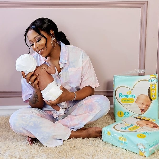 DJ Zinhle shows of her newborn baby – Photos