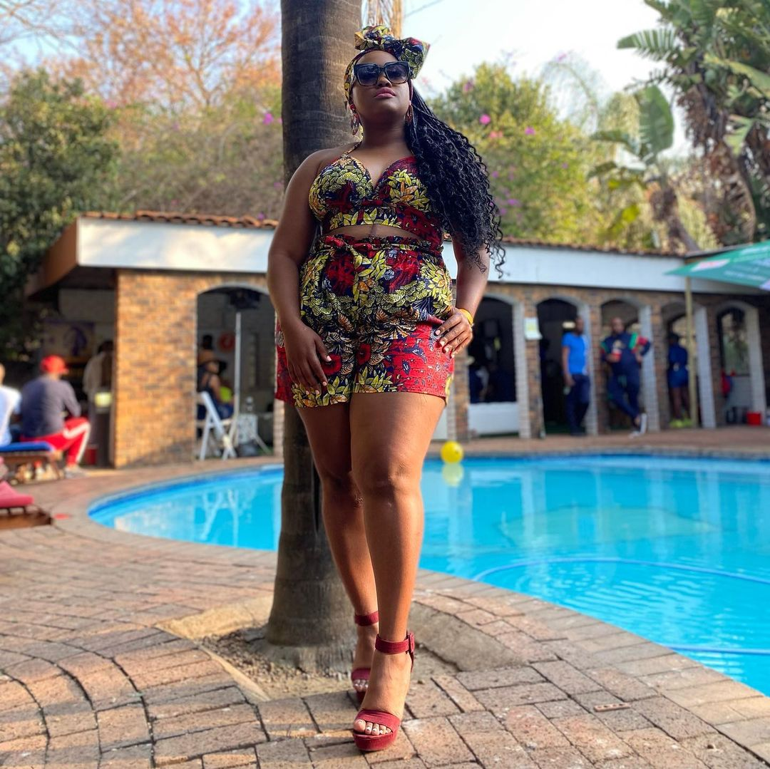 Actress and TV host Kayise Ngqula has opened up about her scars