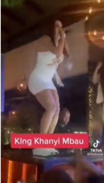 Video of Khanyi Mbau singing shiyi'indoda eDubai at a party has Mzansi talking