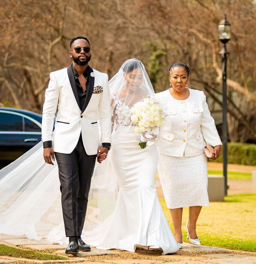 Actor Nkosinathi Maphalala(Nay Maps) walks down the aisle