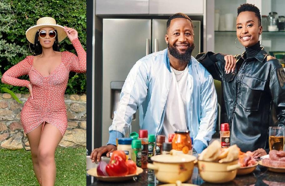 Thobeka Majozi marks his territory as Cassper flirts with Zozibini Tunzi on The Braai Show