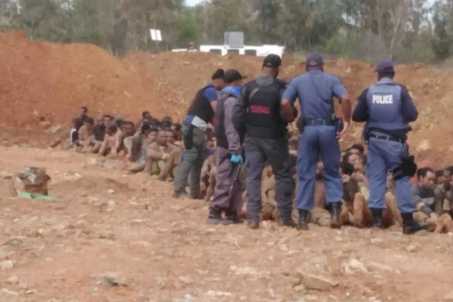 100s of miners emerge after clashes between zama zama's and North West police