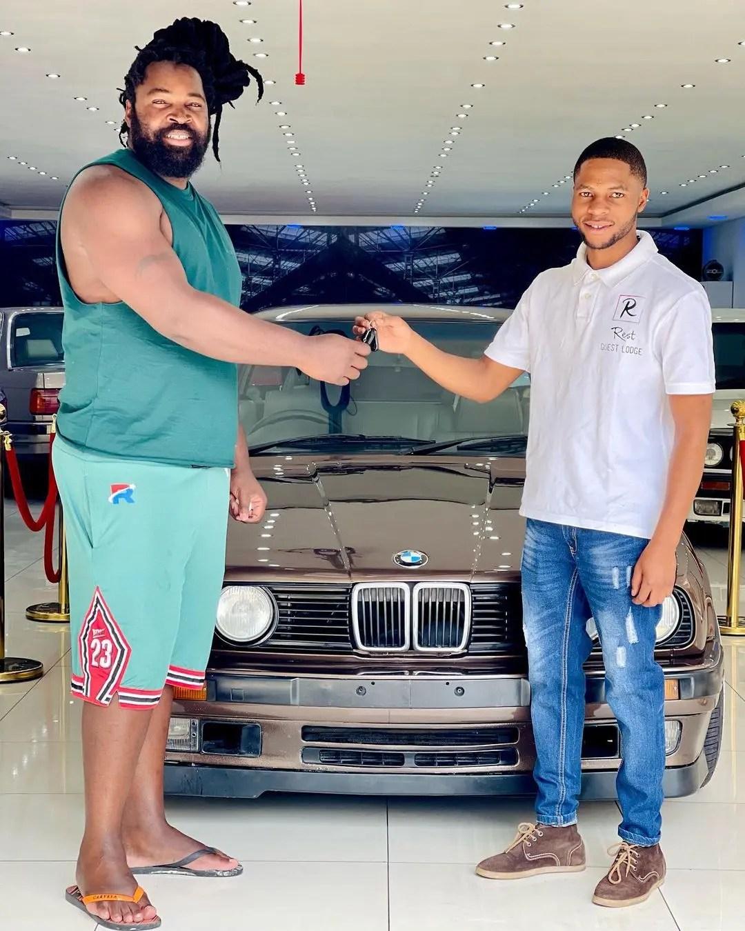 Big Zulu blesses himself with a brand new BMW car – Photos