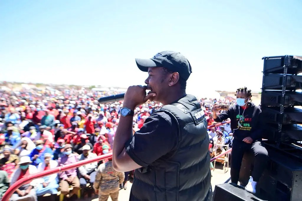 Skeem Saam's Cornet Mamabolo thrills EFF supporters during recent star rally