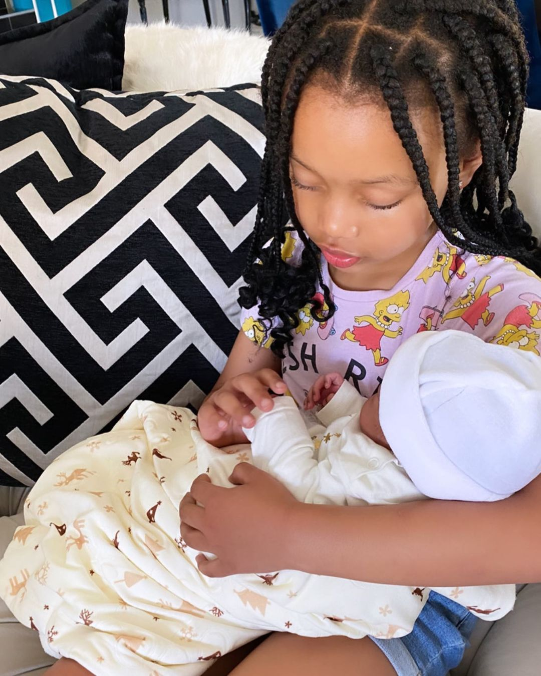 Photos of Kairo Forbes with baby Asante melts Mzansi hearts