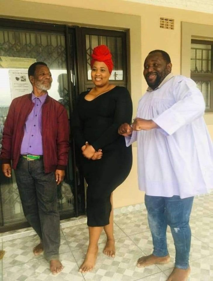 Viral Shembe dancer Mbali Nyandeni spark engagement rumours to a Shembe preacher – Photos
