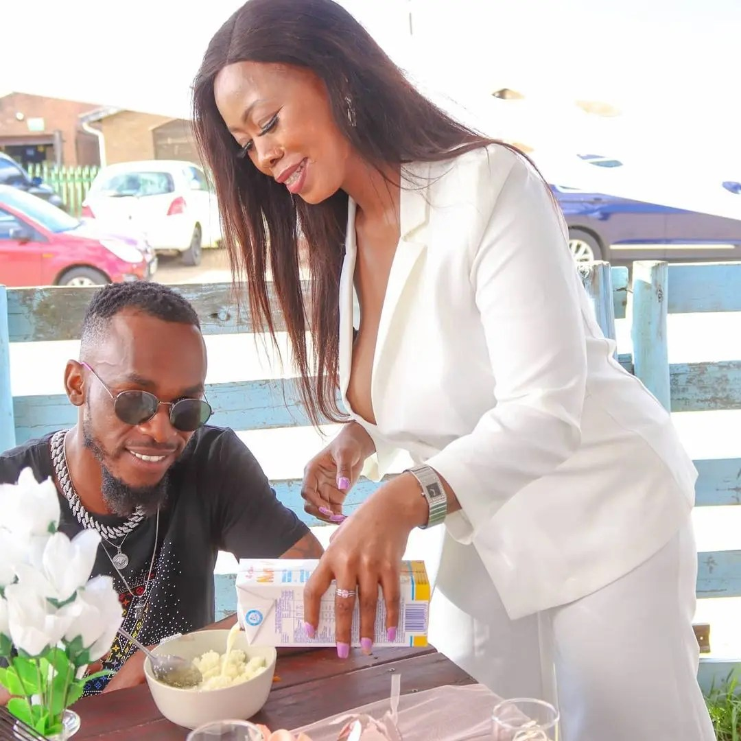 DRAMA: Skolopad serves pap and milk at her alleged 'R15 million' b-day party – Photos