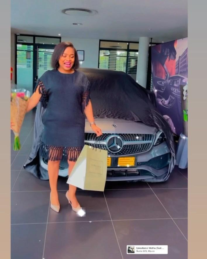 Durban Gen actress Sthandwa Nzuza(Zandile) shows off her new Mercedes Benz – Photos