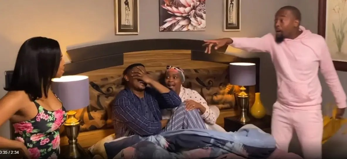 DRAMA: Moshe Ndiki storms Gomora set to confront actor Zolisa Xaluva(Melusi) – Video